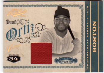 2011 Prime Cuts Materials Century Gold #11 David Ortiz/25