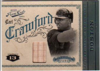 2011 Prime Cuts Materials #6 Carl Crawford/199