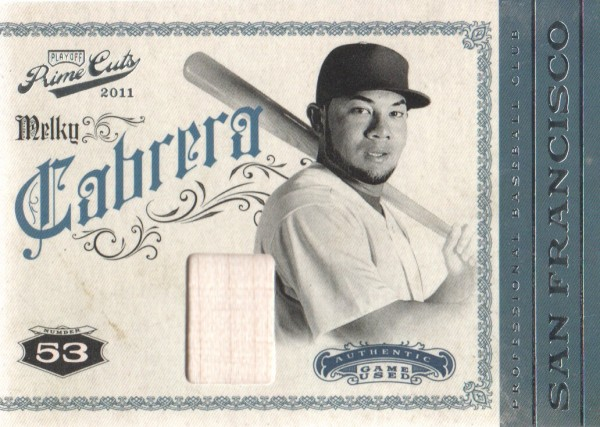 2011 Prime Cuts Materials #31 Melky Cabrera/199
