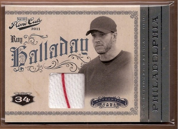 2011 Prime Cuts Materials #42 Roy Halladay/199