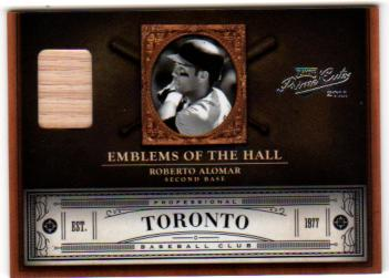 2011 Prime Cuts Emblems of the Hall Materials #3 Roberto Alomar/99