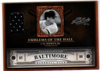 2011 Prime Cuts Emblems of the Hall Materials #10 Cal Ripken Jr./99