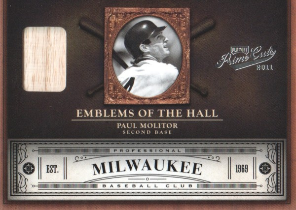 2011 Prime Cuts Emblems of the Hall Materials #15 Paul Molitor/99