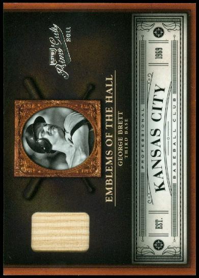 2011 Prime Cuts Emblems of the Hall Materials #23 George Brett/99