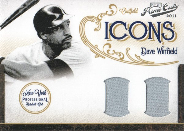 2011 Prime Cuts Icons Materials Combos #9 Dave Winfield/25