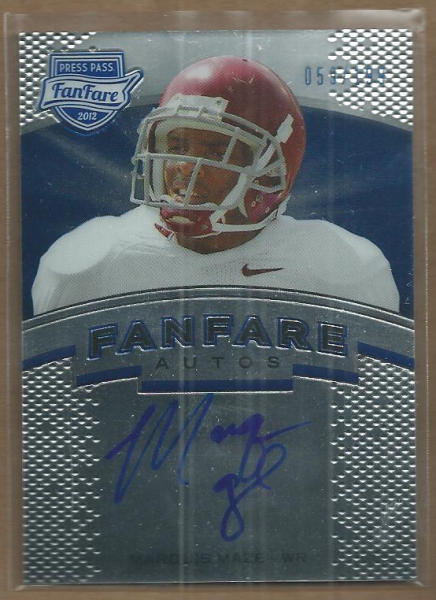 2012 Press Pass Fanfare Blue #FFMM Marquis Maze AU