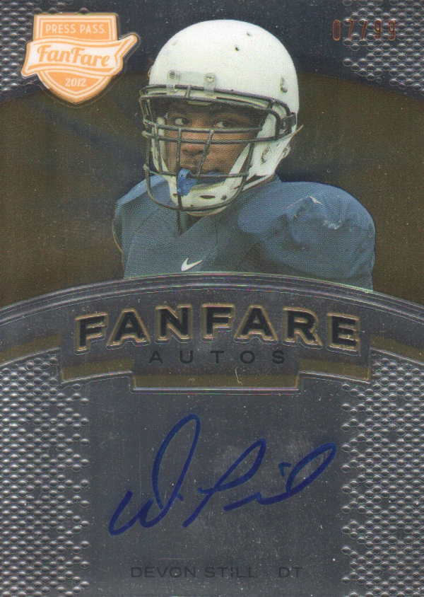 2012 Press Pass Fanfare Bronze #FFDS Devon Still AU/99