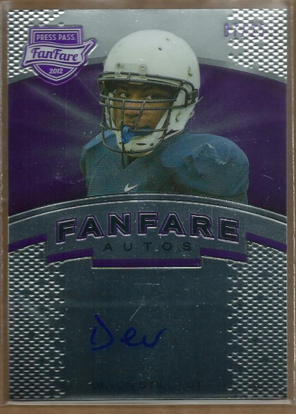 2012 Press Pass Fanfare Purple #FFDS Devon Still AU/25