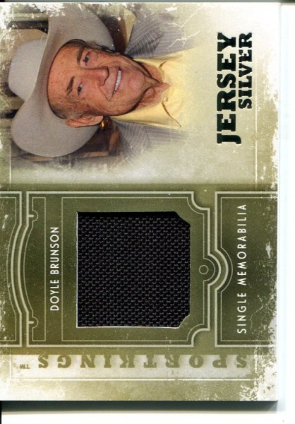 2012 Sportkings Single Memorabilia Silver #SM19 Doyle Brunson