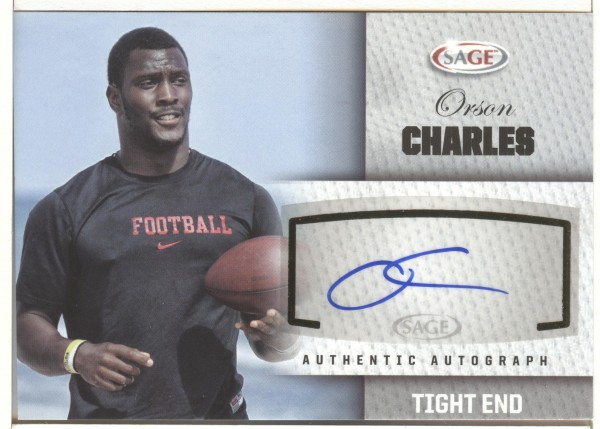 2012 SAGE Autographs Silver #A7 Orson Charles
