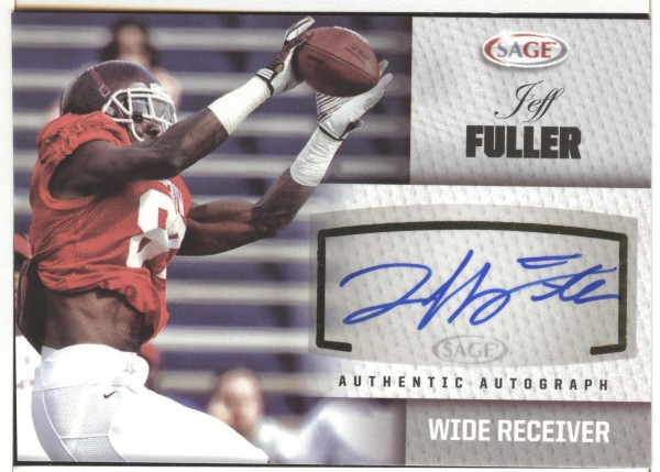 2012 SAGE Autographs Silver #A16 Jeff Fuller