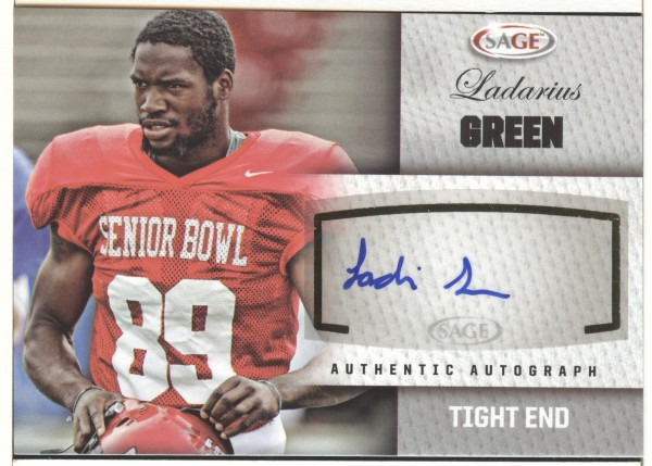 2012 SAGE Autographs Silver #A19 Ladarius Green