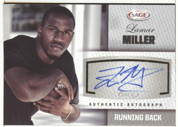 2012 SAGE Autographs Silver #A35 Lamar Miller