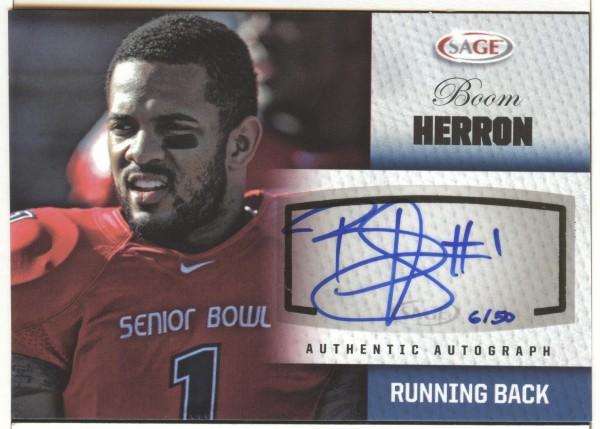 2012 SAGE Autographs Platinum #A21 Boom Herron
