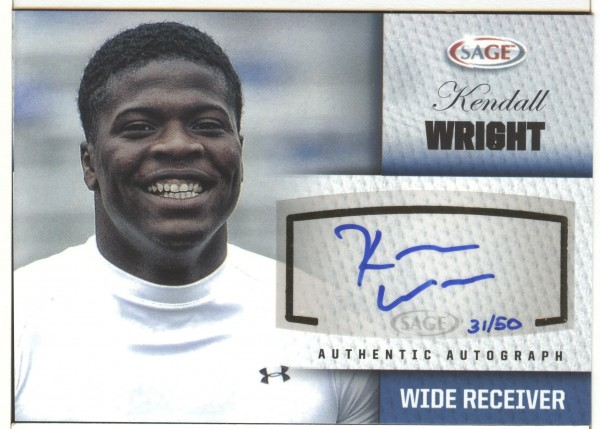 2012 SAGE Autographs Platinum #A50 Kendall Wright