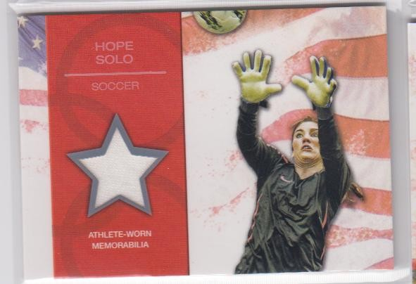 2012 Topps U.S. Olympic Team Relics #ORHS Hope Solo