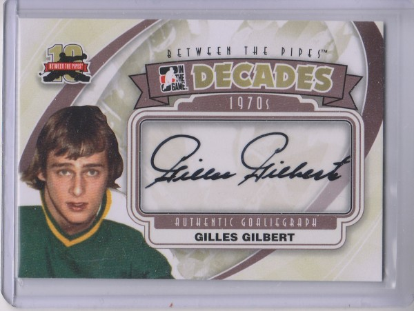 2011-12 Between The Pipes Autographs #AGG Gilles Gilbert DEC