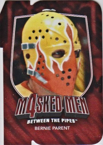 2011-12 Between The Pipes Masked Men IV Ruby Die Cuts #MM33 Bernie Parent