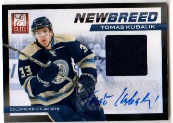 2011-12 Elite New Breed Materials Autographs #39 Tomas Kubalik/50