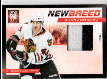 2011-12 Elite New Breed Materials Patches #4 Brandon Saad/25