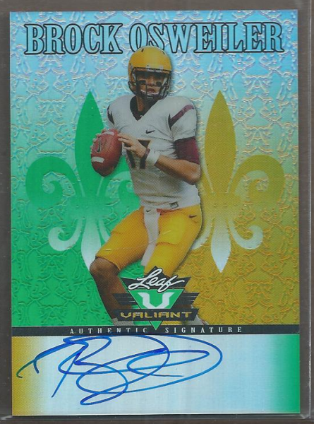 2012 Leaf Valiant Draft #BO1 Brock Osweiler