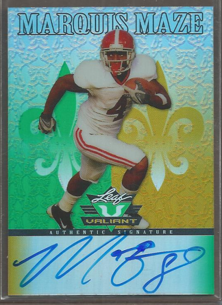 2012 Leaf Valiant Draft #MM1 Marquis Maze