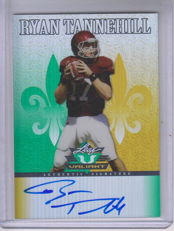 2012 Leaf Valiant Draft #RT2 Ryan Tannehill