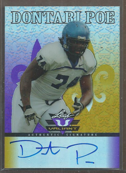 2012 Leaf Valiant Draft Purple #DP3 Dontari Poe