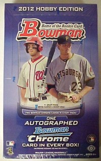 2012 Bowman Baseball Hobby Box