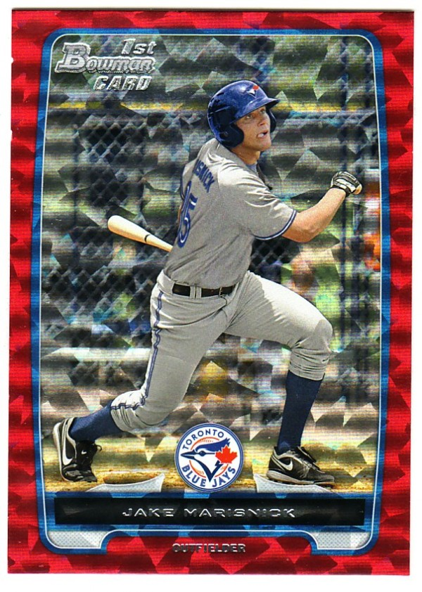 2012 Bowman Prospects Silver Ice Red #BP23 Jake Marisnick