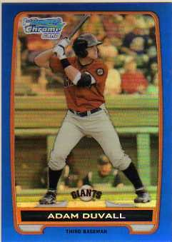 2012 Bowman Chrome Prospects Blue Refractors #BCP44 Adam Duvall