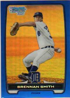 2012 Bowman Chrome Prospects Blue Refractors #BCP50 Brennan Smith