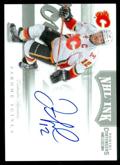 2011-12 Panini Contenders NHL Ink #6 Jarome Iginla SP