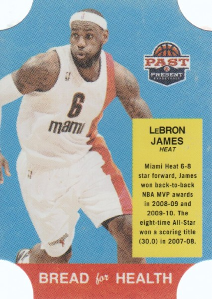 2011-12 Panini Past and Present Bread for Health #29 LeBron James