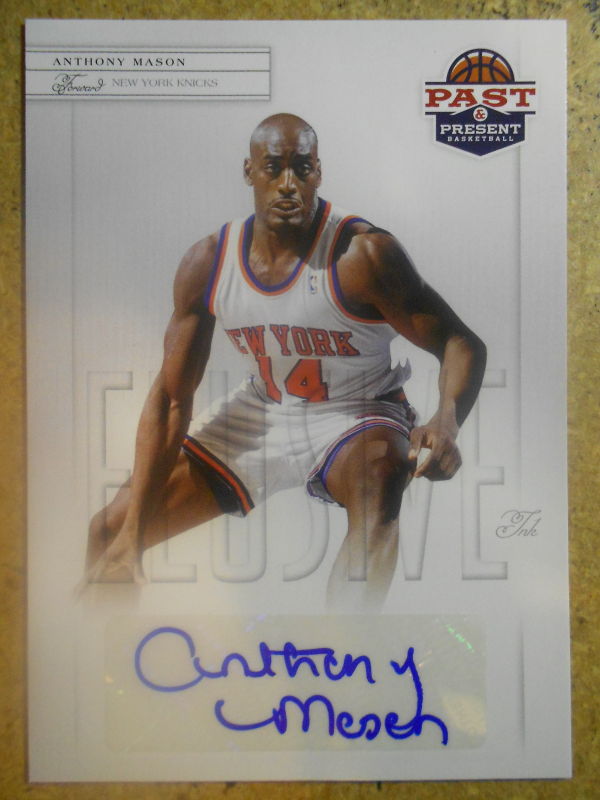 2011-12 Panini Past and Present Elusive Ink Autographs #AM Anthony Mason