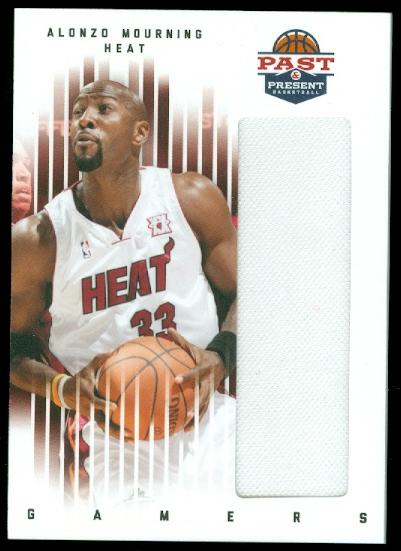 2011-12 Panini Past and Present Gamers Jerseys #6 Alonzo Mourning