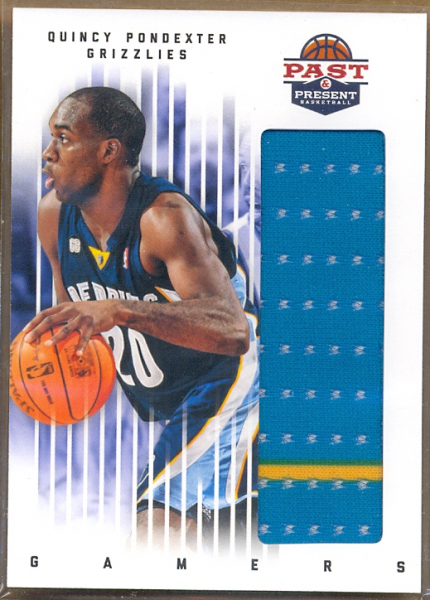 2011-12 Panini Past and Present Gamers Jerseys #68 Quincy Pondexter