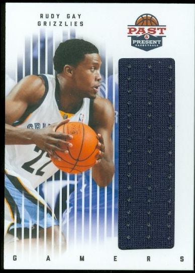 2011-12 Panini Past and Present Gamers Jerseys #82 Rudy Gay