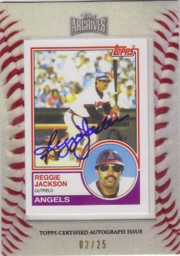 2012 Topps Archives Framed Mini Autographs #500 Reggie Jackson