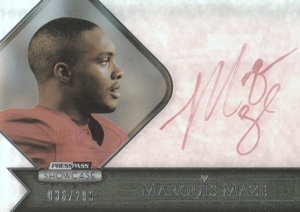 2012 Press Pass Showcase Red Ink #SCMM Marquis Maze/50*