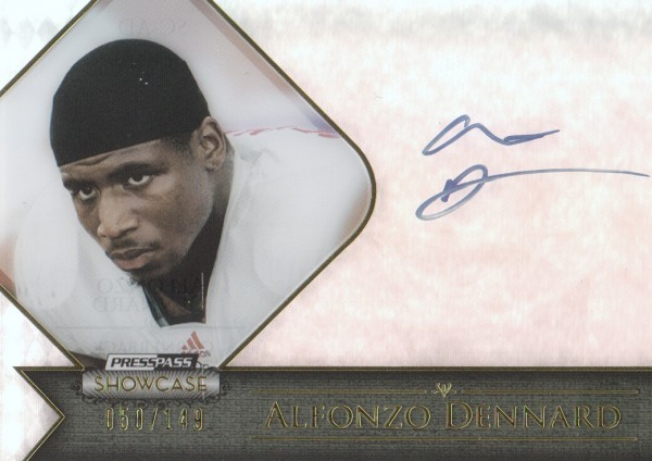 2012 Press Pass Showcase Gold #SCAD Alfonzo Dennard/100*