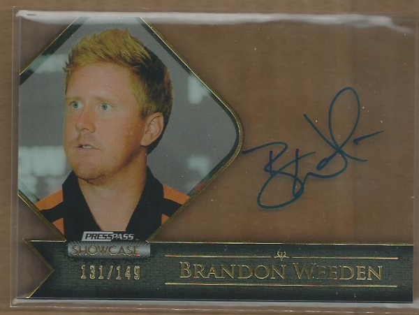2012 Press Pass Showcase Gold #SCBW Brandon Weeden