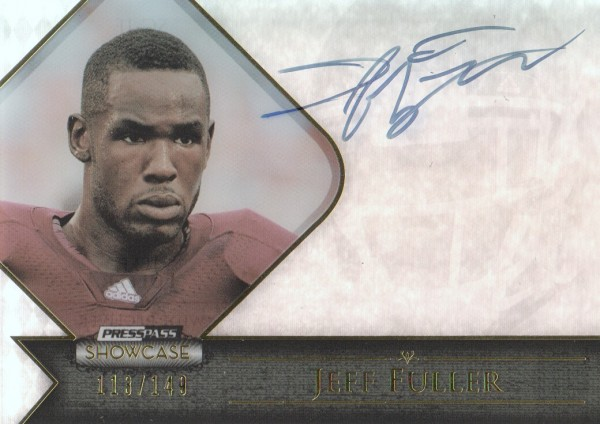 2012 Press Pass Showcase Gold #SCJF Jeff Fuller/99*