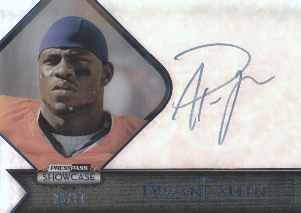 2012 Press Pass Showcase Blue #SCDA Dwayne Allen/45*