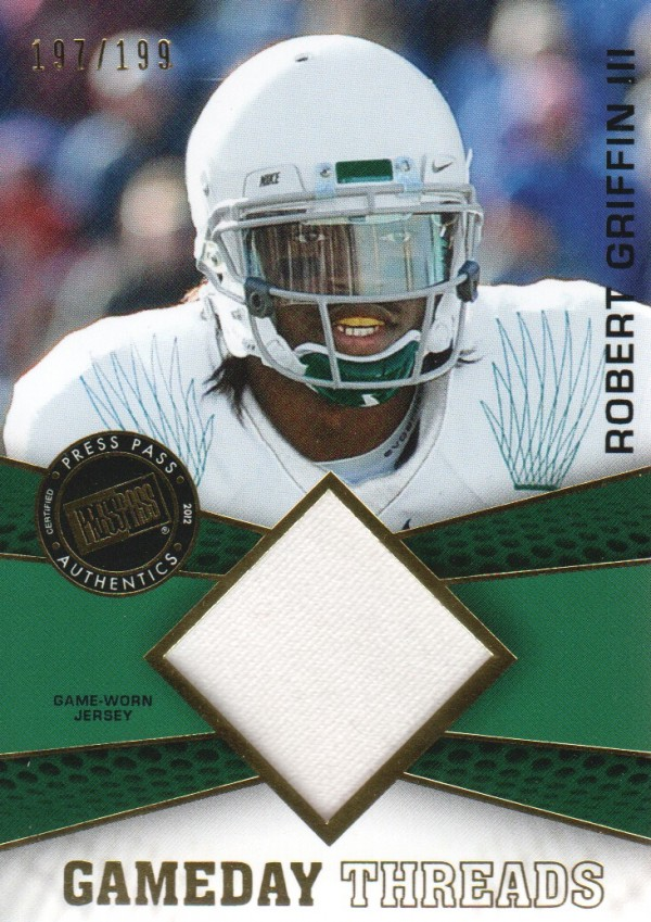 2012 Press Pass Showcase GameDay Threads Gold #GDTRG  Robert Griffin III