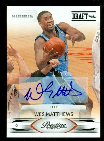 2009-10 Prestige #251A Wesley Matthews AU*