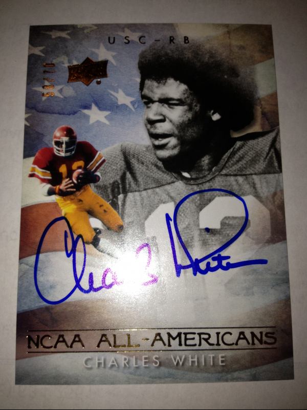 2011 Upper Deck College Legends All-Americans Autographs #AACW Charles White/70