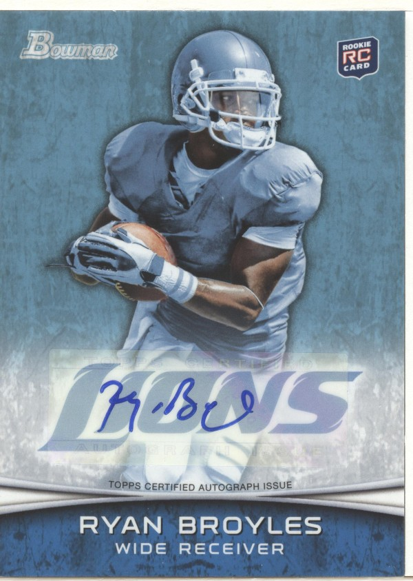 2012 Bowman Rookie Autographs #197 Ryan Broyles