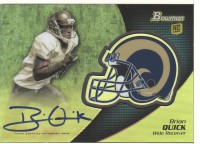 2012 Bowman Rookie Team Helmet Autographs #BCRABQ Brian Quick