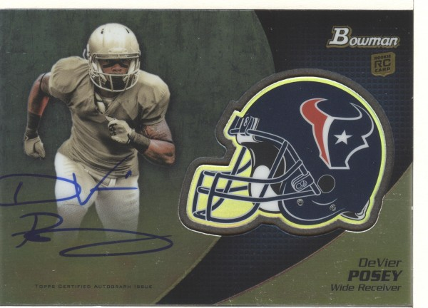 2012 Bowman Rookie Team Helmet Autographs #BCRADP DeVier Posey